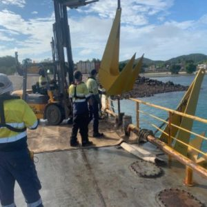 Commercial Dive Company, North Marine, Install a Swing Cyclone Mooring Anchor in Thursday Island, Torres Strait, Australia
