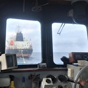 Tug Boat Gulf Explorer Towing Shipping Company Bulk Carrier to Queensland Australia from Torres Strait