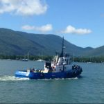 Tugboat Support Vessel for Hire ǀ North Marine ǀ Tugboat Charter Work in Cairns Inlet