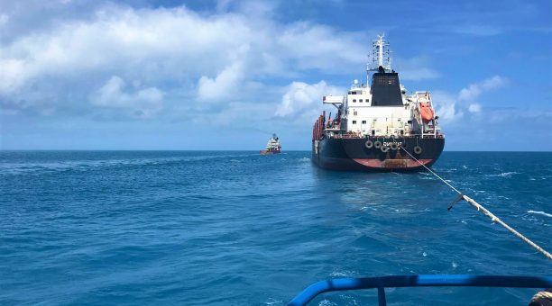 Tug Boat Assist for Bulk Carrier Ocean Crossing